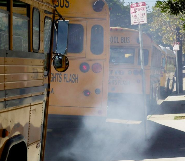 Image result for school bus fumes
